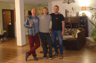 With Jacek and Bartek in Rywałd