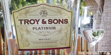Troy and Sons Platinum Whiskey Label