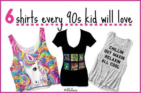 6 Shirts Every 90's Kid Will Love