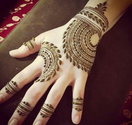 Latest Mehendi Designs: For Palm Upper Side of Hands