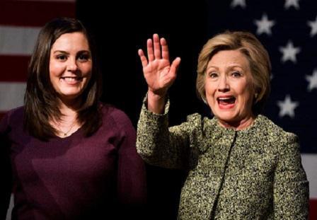 Erica Smegielski & Hillary Clinton (Getty Image)