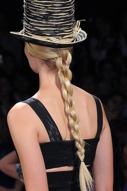Wet rope ponytail - Rope Braid Hairstyle