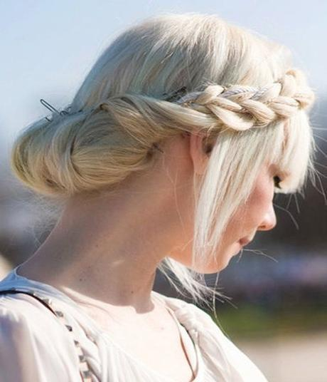 Rope braided updo hairstyle