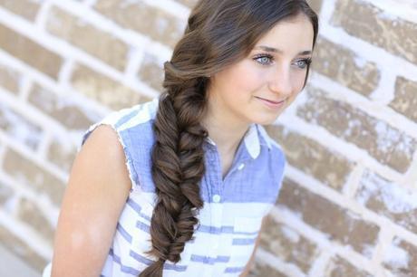 Loose side braid School Girl Hairstyle