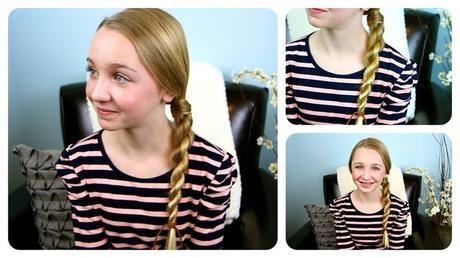 Rope braid School Girl Hairstyle