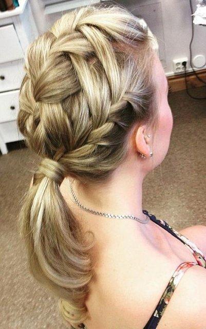 Multiple ponytail braid School Girl Hairstyle