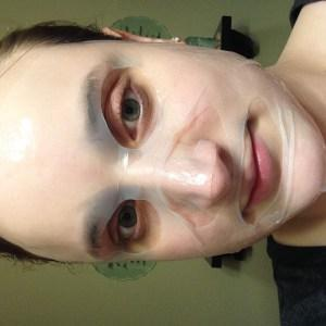 Farmacy Coconut Gel Mask Medley on face