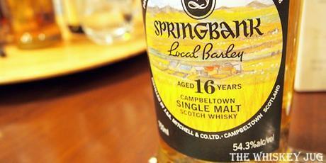 Springbank Local Barley 16 Years Label