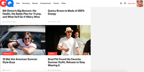 The homepage is not dead——according to GQ