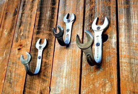 Spanners / Wrenches Used To Make Wall Hooks