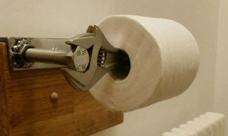 Spanners / Wrenches Used To Make Toilet Roll Holder
