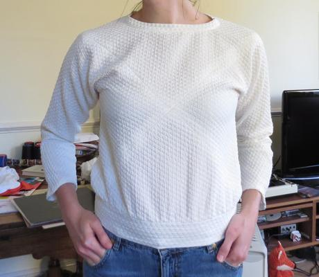 No Patterns Needed Blog Tour- the Cape Sleeved Top
