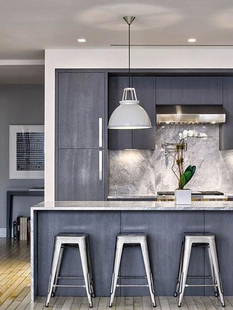 Cerused Oak Kitchen Cabinetry In Contemporary Kitchen