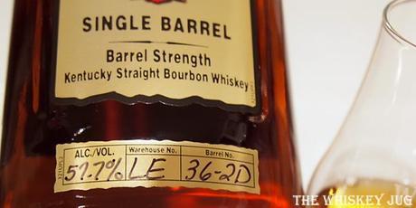 Four Roses Single Barrel LE 36-2D Label