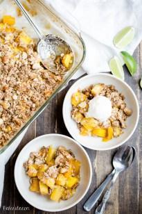 Mango Pineapple Crumble (Gluten Free + Vegan)