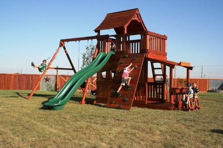 Wood Playset Plans For Backyard
