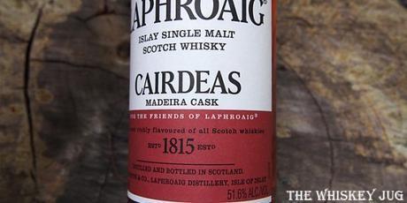 Laphroaig Cairdeas 2016 Madeira Cask Label