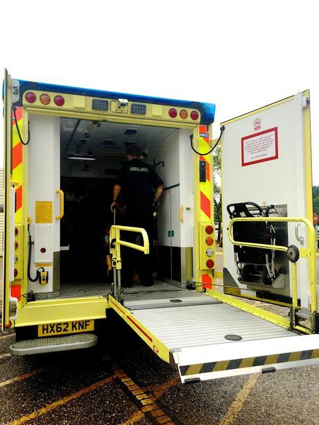 The day that you went to Hospital in the back of an Ambulance