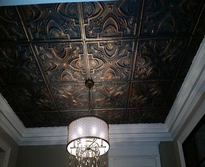 ceiling tiles - living room