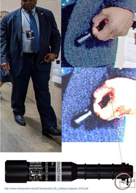 Hillary's body guard holding Diazepam pen1