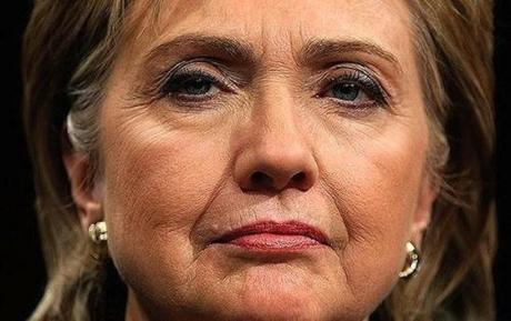 Hillary with wrinkles