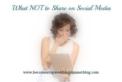 5 Things Wedding Planners Shouldn't Share on Social Media