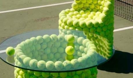Tennis Balls Transformed Into Furniture