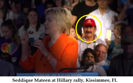 Seddique Mateen at Hillary rally