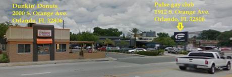 Dunkin' Donuts & Pulse on S. Orange Ave., Orlando, FL