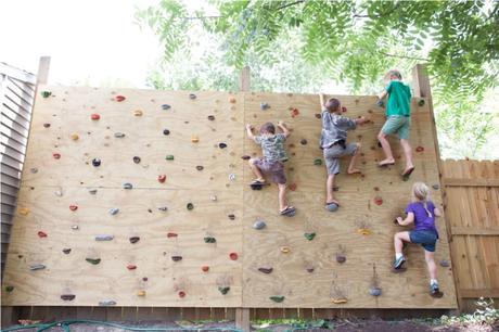 Backyard Climbing Wall For Swing Set Paperblog