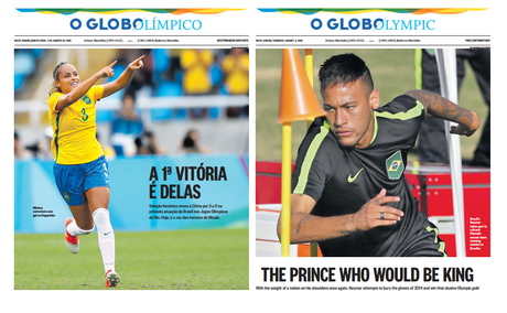 O Globo: a special Summer Olympic supplement—and it's free