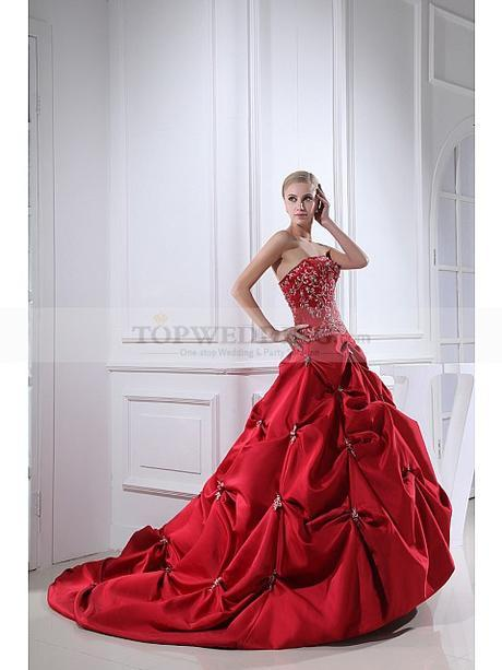 Strapless-Embroidered-Luxury-Taffeta-Wedding-Dress-with-Beads-(2)