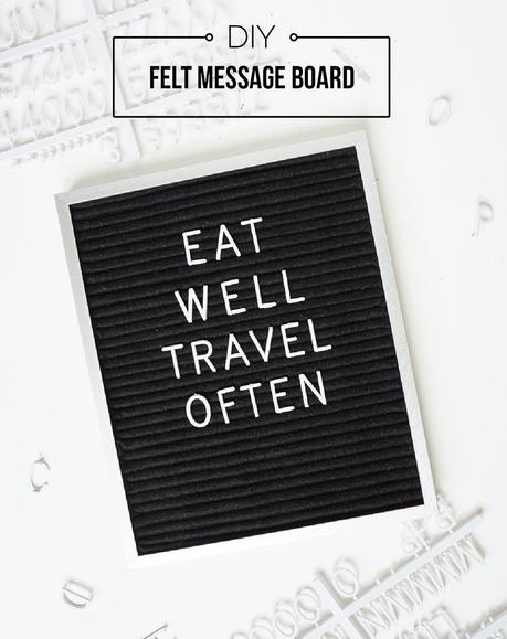 How to Make a Felt Message Board
