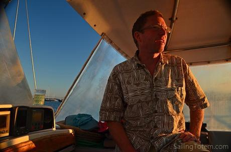 aloha shirt, jam jar of wine...must be sundowners