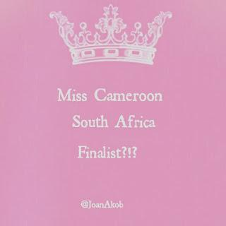 Miss Cameroon South Africa 2016 Finalist  - Joan Awum Akob