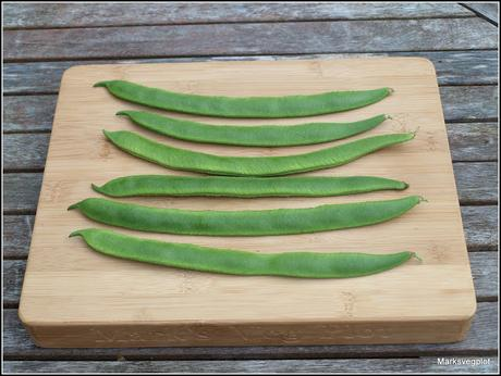 Runner Beans - a contrast in styles
