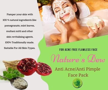 Introducing Nature's Dew Anti-Acne Face Pack for You