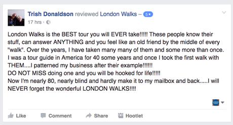 London Walker Trish Donaldson Writes…