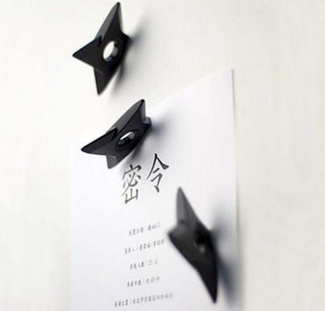 Ninja Shuriken Fridge Magnets