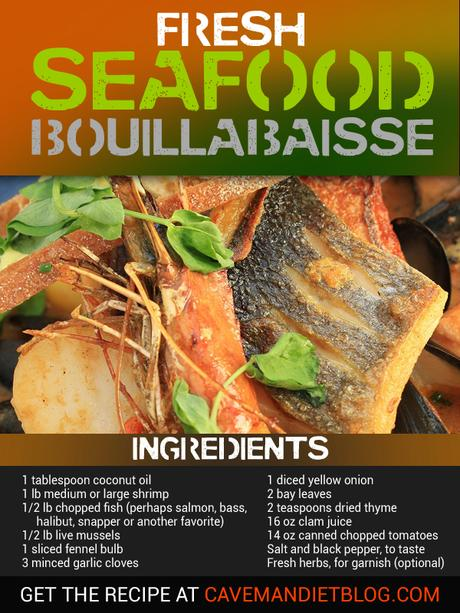 paleo dinner recipes seafood bouillabaise ingredient image