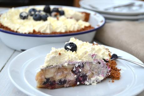 Banana and Blueberry Pie