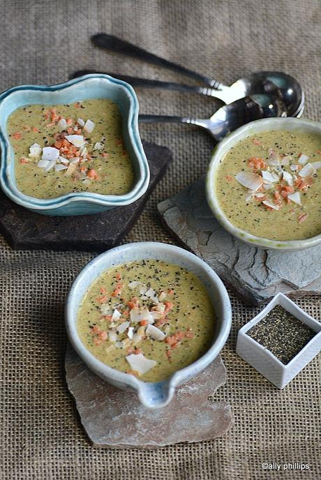 coconut ginger broccoli carrot soup