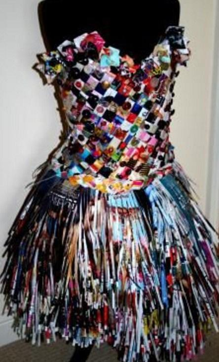 Old Magazine Used to Make a Dress