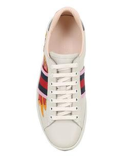 FlameThrower: Gucci Metal Leather Flames Sneaker