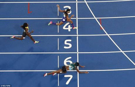 Olympic Spirit ~ amidst hot exchanges runners D'Agnostino of USA  and Nikki Hamblin of New Zealand display rare quality