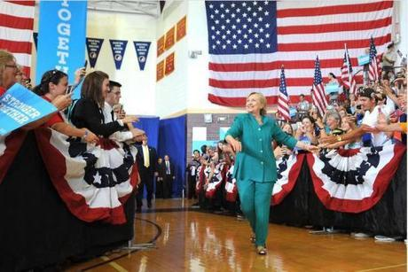 Hillary in Des Moines, Iowa, August 10, 2016 (Steve Pope - Getty image)