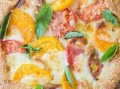 Mozzarella Heirloom Tomato Galette with Parmesan Crust (Gluten Free)
