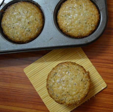 Lemon Cupcakes with Chia Seeds | Lemon Cupcakes | Eggless cupcakes