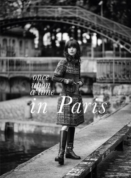 Mae Lapres in Chanel RTW FW 2016-2017 © Benjamin Kanarek