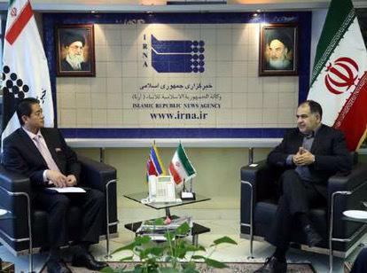 DPRK Ambassador to Iran Meets with IRNA President